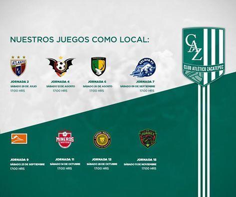 Dan A Conocer Calendario De Partidos Locales Del Club Atletico Zacatepec