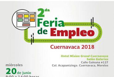 El Servicio Nacional de Empleo Morelos Invita a los interesados a acudir a su 2º Feria del Empleo en Cuernavaca