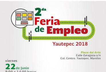 El Servicio Nacional de Empleo Morelos Invita a los interesados a acudir a su 2º Feria del Empleo en Yautepec