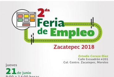 El Servicio Nacional de Empleo Morelos Invita a los interesados a acudir a su 2º Feria del Empleo en Zacatepec