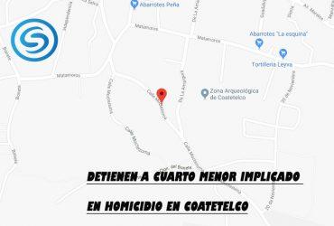 Detienen a cuarto menor implicado en homicidio en Coatetelco