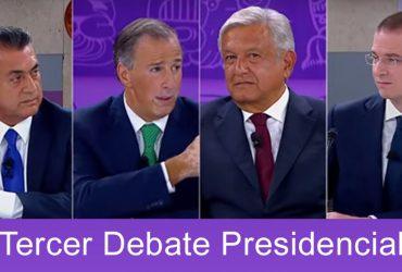 """Tercer y último debate presidencial, a días de """"Elecciones 2018"""""""