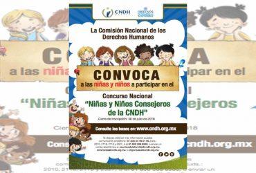 """Últimos días para inscribirse al Concurso Nacional """"Niñas y Niños Consejeros de la CNDH"""""""