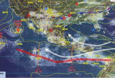 Persistirá potencial de lluvias durante fin de semana