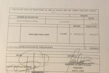 Revela CNPR que el ex diputado Aristeo Rodríguez les debe 3.1 millones de pesos por un préstamo de hace siete años. Le exigen que lo cubra para evitar mayores consecuencias legales