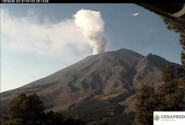 Volcán Popocatépetl se mantiene en semáforo amarillo fase 3