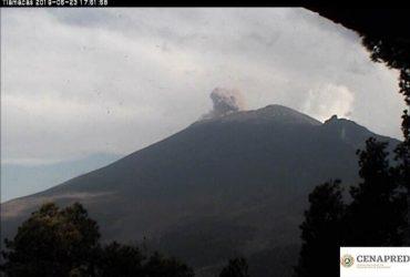 Continúa el semáforo de alerta del volcán Popocatépetl  en amarillo fase 2