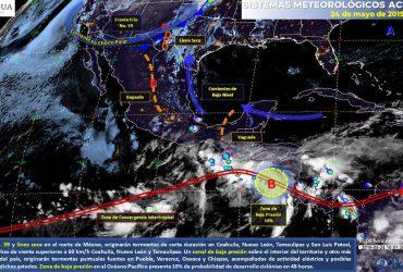 Se prevén lluvias ligeras para el fin de semana en Morelos