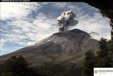 El Semáforo de Alerta Volcánica del Popocatépetl se encuentra en amarillo fase 2.