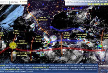 Posibles lluvias moderadas durante el fin de semana en Morelos