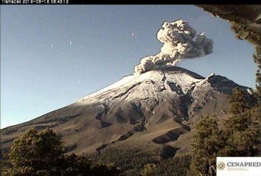 Presenta Morelos caída de ceniza ante actividad del volcán Popocatépetl