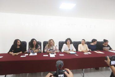Solicitan diputadas del frente progresista de mujeres al comisionado de seguridad pública reunión de trabajo con los 20 diputados