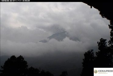 Volcán Popocatepétl continúa con exhalaciones, semáforo en alerta amarilla fase 2