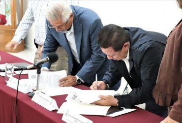 Firman convenio de colaboración el congreso del estado y el colegio de ingenieros agrónomos