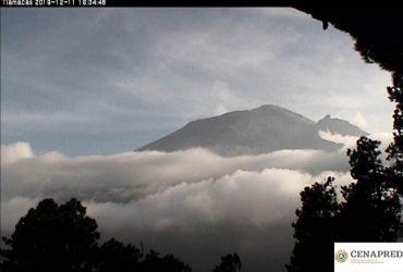 Permanece en amarillo fase 2 el semáforo de alerta volcánica del Popocatépetl