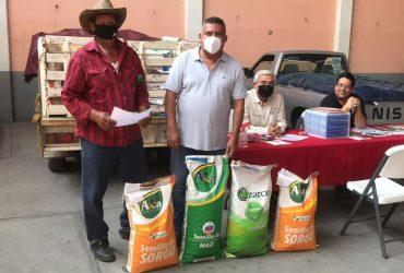 Inicia el ayuntamiento de Tlaltizapán la entrega de semillas de maíz y sorgo para el ciclo primavera verano 2020