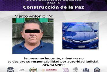 Detienen a un hombre por posesión de un vehículo de procedencia ilícita Cuernavaca