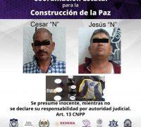 Detenidos dos hombres en Zacatepec después de robar a una tienda de conveniencia
