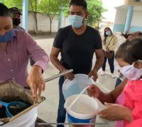 Entrega de tilapia para combatir propagación del dengue en Jojutla