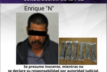 Un hombre es detenido por posesión de droga en el municipio de Yautepec