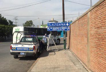 Con letreros, quiere Zacatepec hacer conciencia sobre el uso de cubrebocas