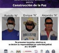 Detienen a tres hombres por allanamiento, en el municipio de Yautepec