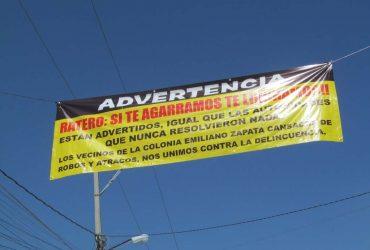 Responden vecinos de la colonia Zapata; aseguran que mantendrán acciones precautorias contra la delincuencia