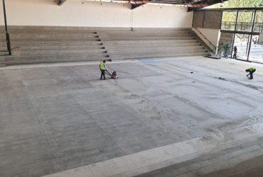 Un 85% por ciento de avance registra la obra de rehabilitación del auditorio Juan Antonio Tlaxcoapan de Jojutla