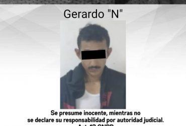 Detienen a un hombre  por delitos contra la salud en el municipio de Jiutepec