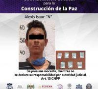 Detienen a un hombre por delitos contra la salud en el municipio de Zacatepec