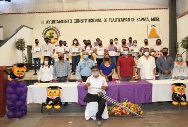Entrega INEEA  certificados de primaria y secundaria en el municipio de Tlaltizapán