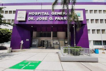 Se mantienen tres hospitales Covid en Morelos; actualmente su ocupación es del 25 por ciento