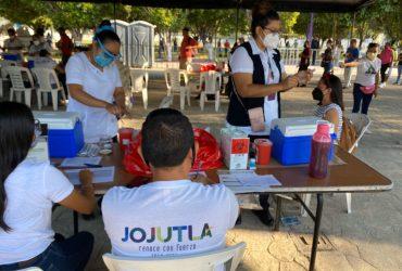 Se aplicaron 7 mil 830 vacunas contra Covid-19 en Jojutla